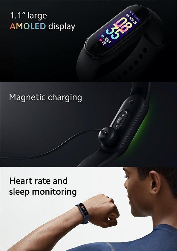 Xiaomi Mi Smart Band 5 - увеличенный дисплей, магнитная зарядка