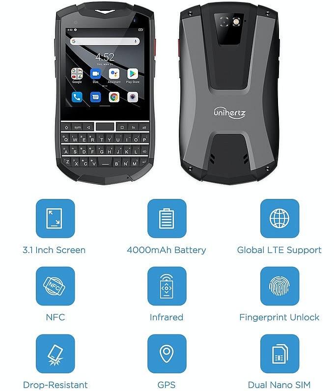 Основные параметры карманного смартфона Titan Pocket от компании Unihertz