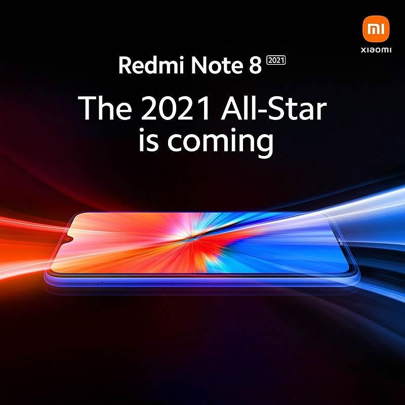 Передняя панель будущей новинки смартфона Redmi Note 8 2021