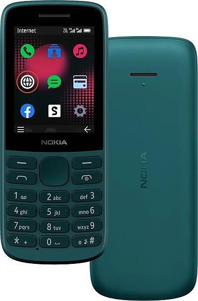 Новинка кнопочный телефон Nokia 215 4G, бирюзовый цвет
