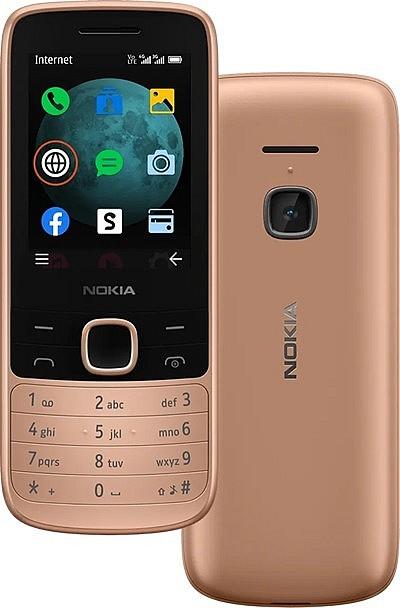 Новинка кнопочный телефон Nokia 225 4G с камерой, золотистый цвет