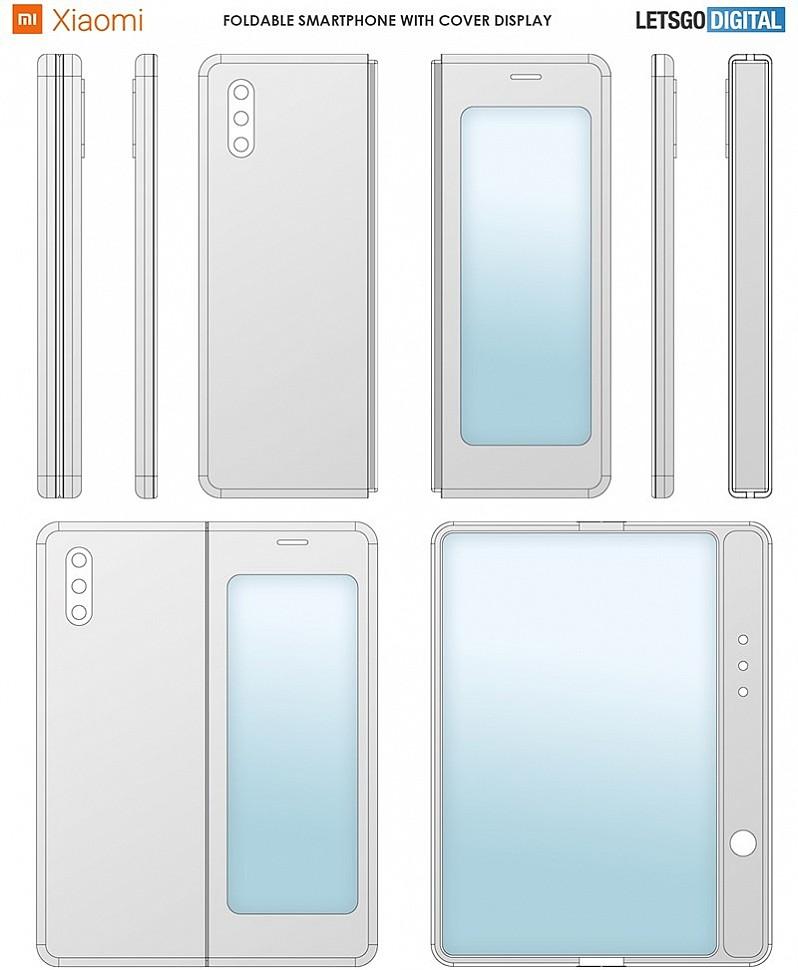 Складной телефон Xiaomi в сложенном и разложенном состоянии