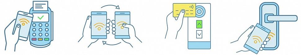 Высокая скорость установки соединения меду устройствами, минимальное расстояние для безопасного обмена информацией