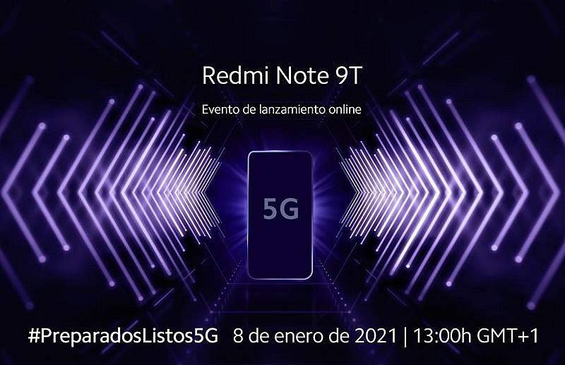 Redmi Note 9T будет представлен 8 января 2021г.