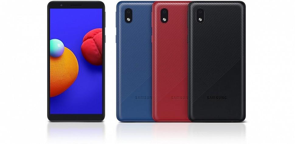 Новинка - бюджетный смартфон начального уровня Samsung Galaxy A01 Core
