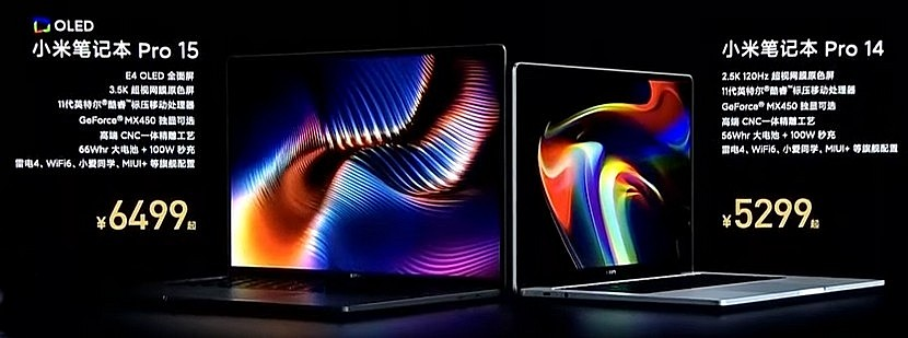 Топовая модификация Xiaomi Mi NoteBook Pro 2021 - Intel Core i7 11370H + 16 Гб ОЗУ + 512 Гб SSD + NVIDIA GeForce MX450