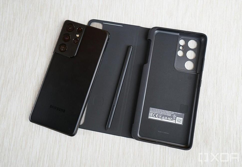 Чехол для Samsung Galaxy S21 Ultra с отсеком для хранения S-Pen Pro