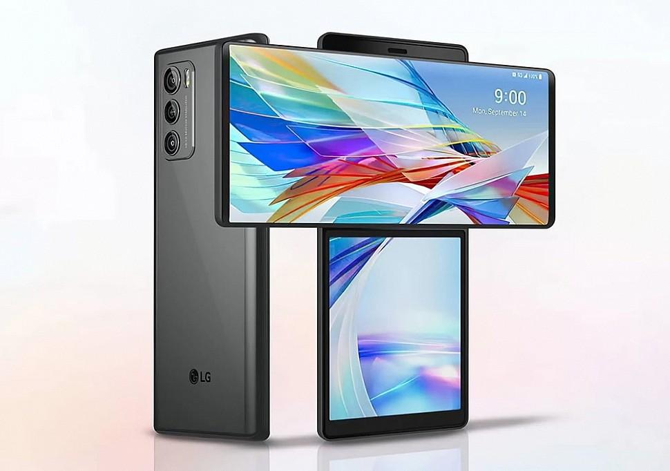 Смартфон с двойным экраном LG Wing
