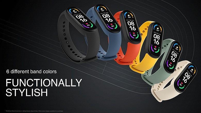 Xiaomi Mi Band 6 представлен в 6 цветах