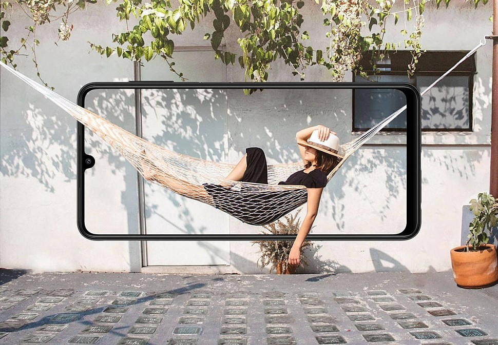 """Samsung Galaxy A22 получил 6.4"""" Infinity-U Super AMOLED дисплей с разрешением HD+ и частотой обновления 90 Гц"""