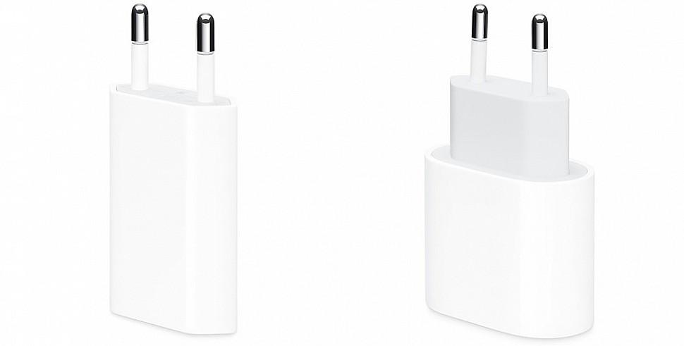 Зарядное устройство Apple мощностью 5 Вт и 18 Вт