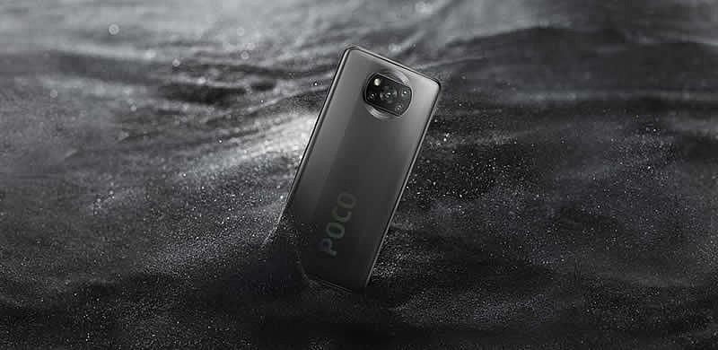 Смартфон Poco X3 NFC в сером цвете