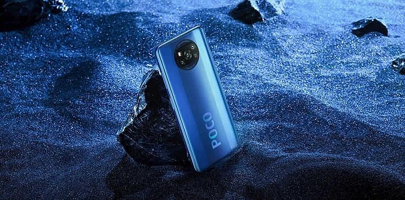 Смартфон Poco X3 NFC в синем цвете