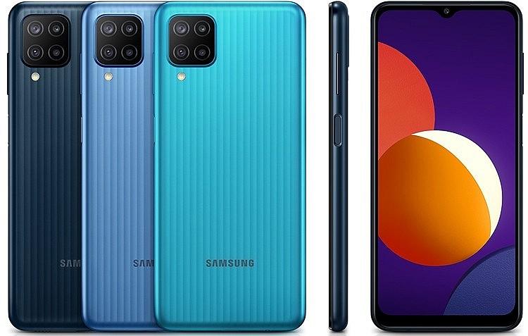 Основная камера Samsung Galaxy M12 имеет 4 модуля, расположенных в квадратном блоке