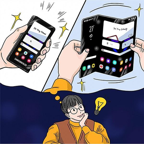 Планшет Samsung, который может складываться в двух местах
