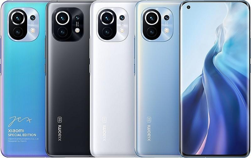 Xiaomi Mi 11: специальная версия, серый, белый и голубой