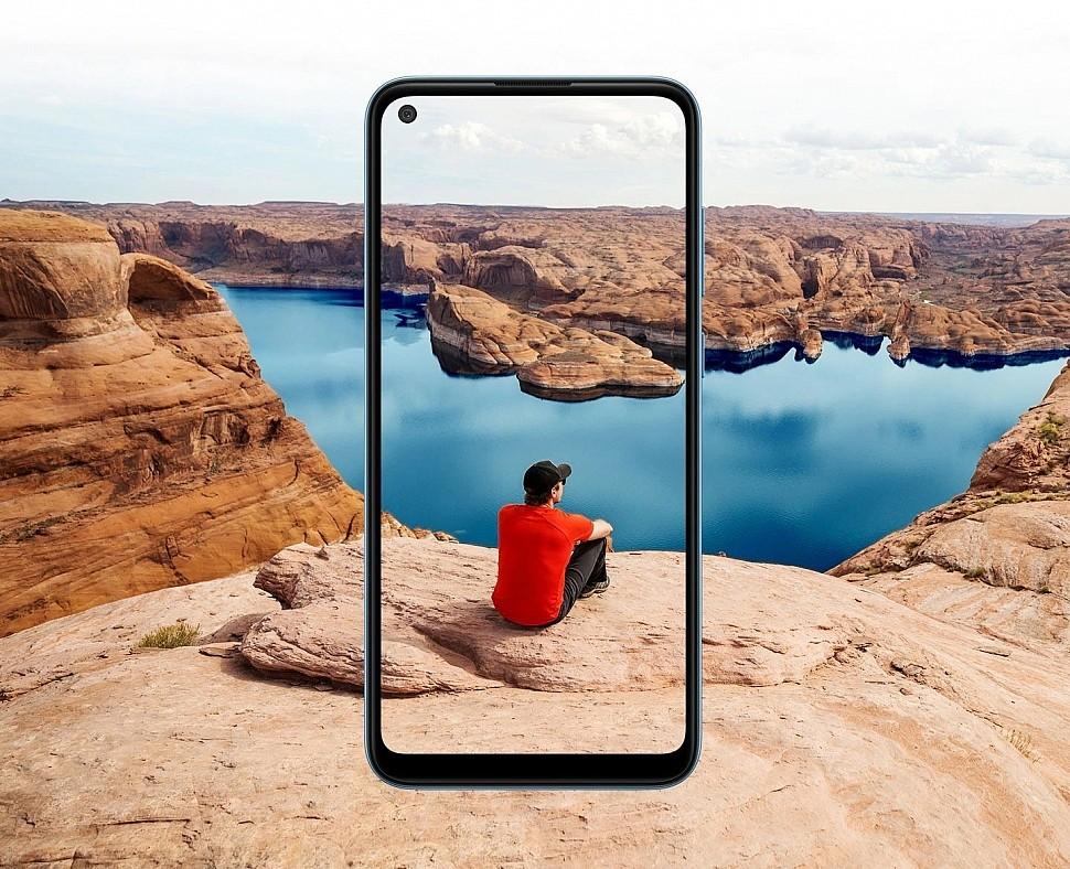 """Samsung Galaxy A11 - безграничный 6,4"""" TFT дисплей с вырезом под 8 Мп селфи-камеру"""