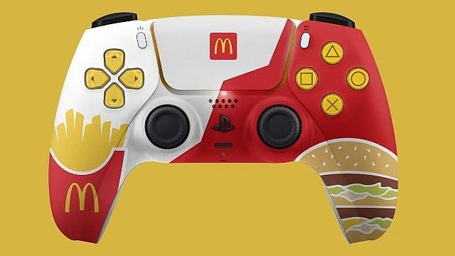 Контроллер McDonald's Sony PlayStation 5 DualSense в фирменном стиле McDonald's