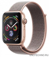 Часы Apple Watch Series 4 GPS 40mm Aluminum Case with Sport Loop (Золотистый/Розовый песок)